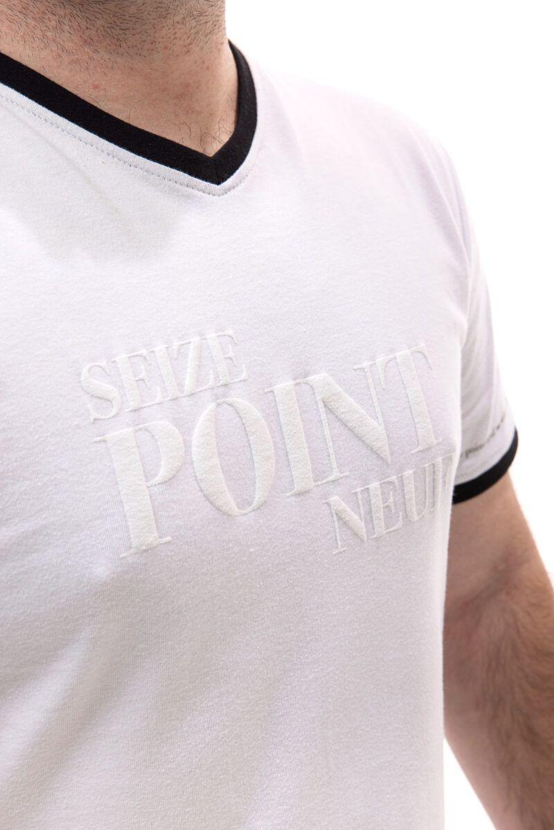 T-shirt Cédric blanc Seize point neuf