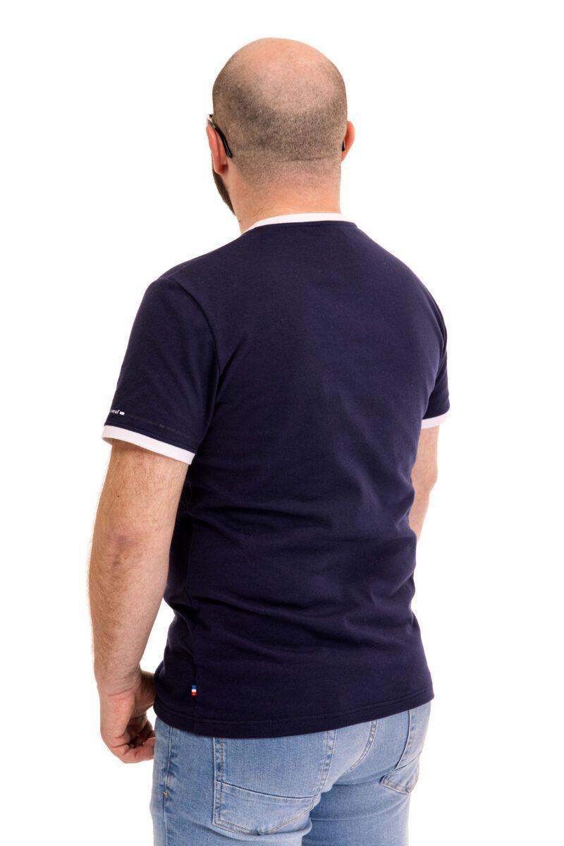 T-shirt Cédric marine Seize point neuf
