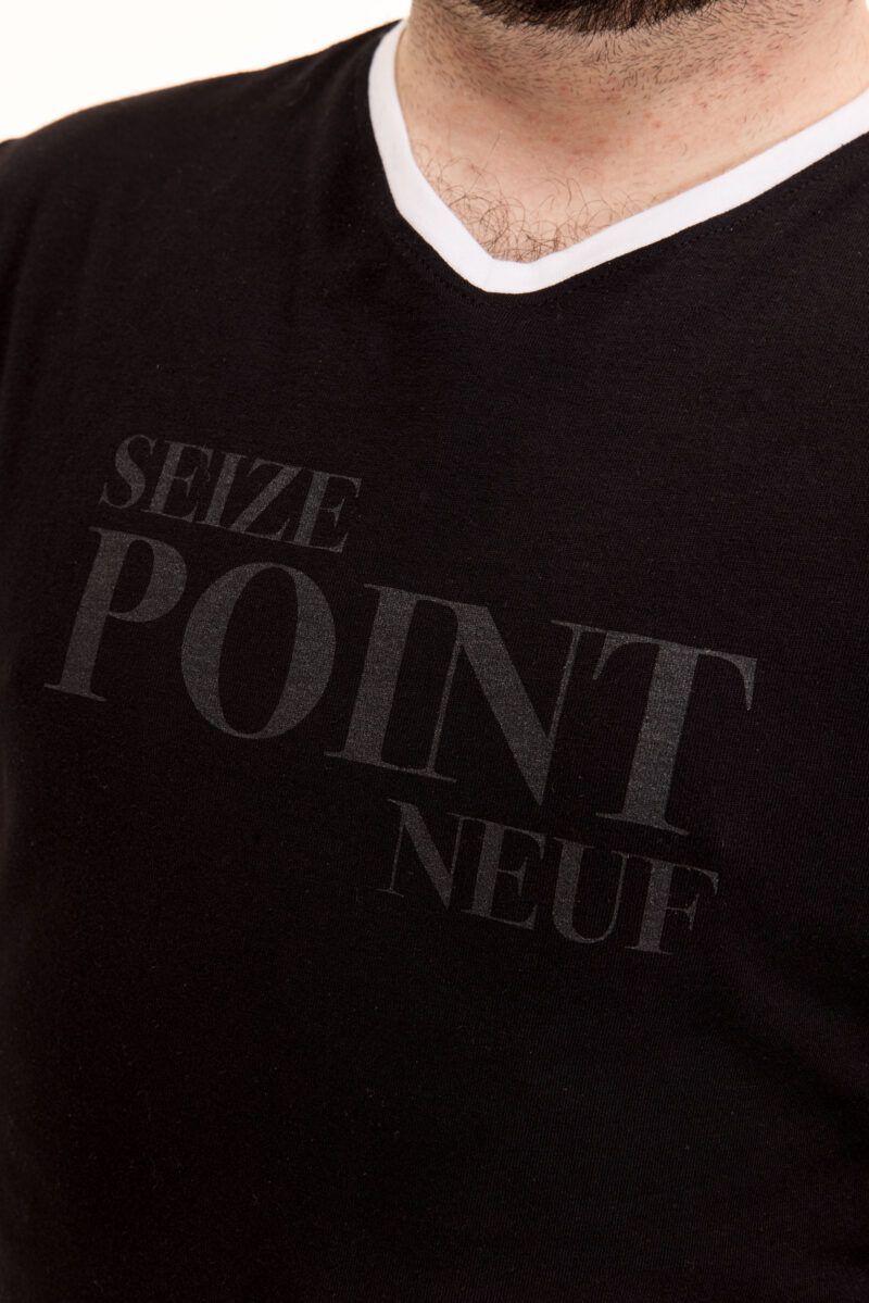 T-shirt Cédric noir Seize point neuf