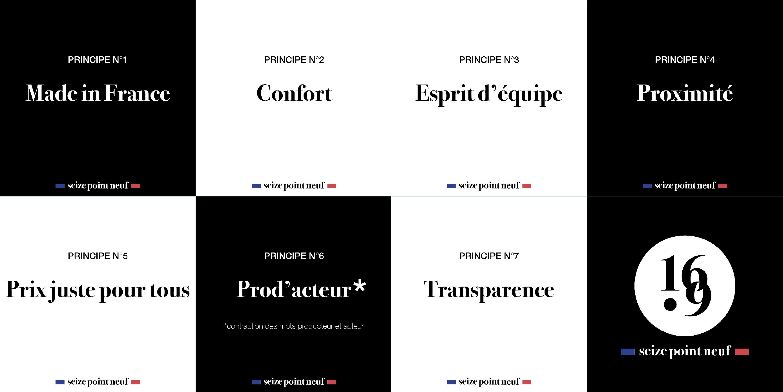 Principes Seize point neuf