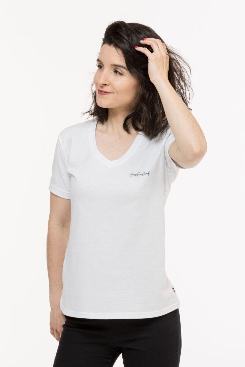 T-shirt Isabelle classique blanc Seize point neuf