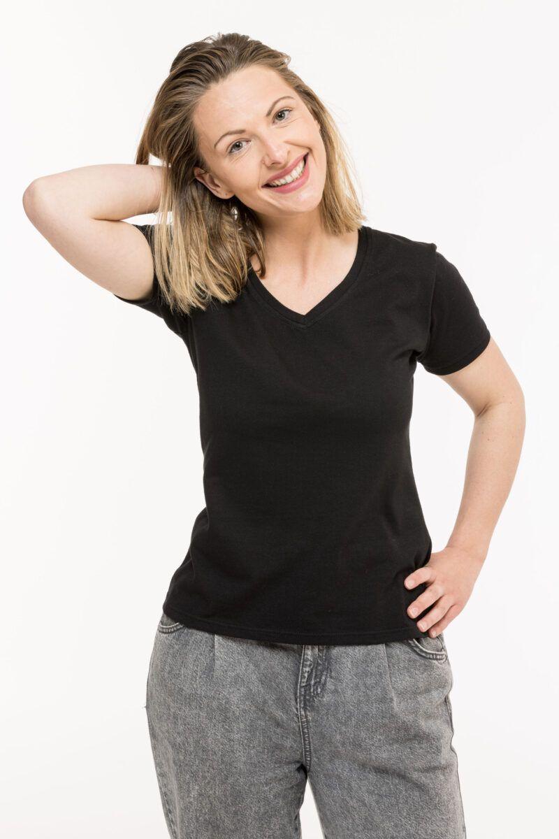 T-shirt Isabelle discret noir Seize point neuf