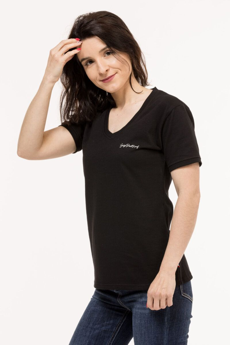 T-shirt Isabelle classique noir Seize point neuf