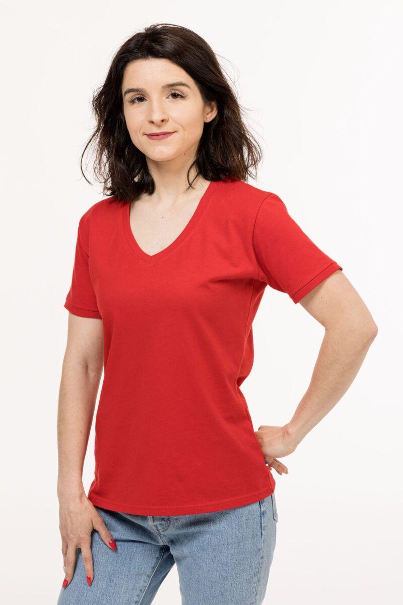 T-shirt Isabelle discret rouge Seize point neuf