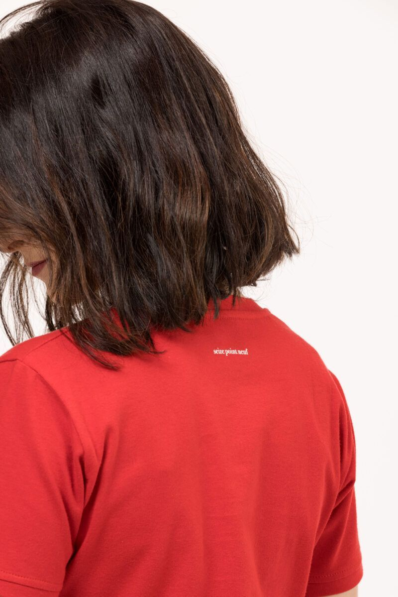T-shirt Isabelle discret rouge dos Seize point neuf