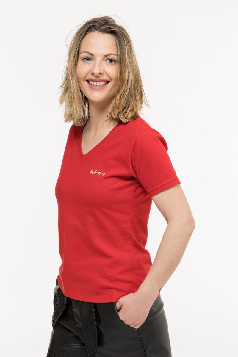 T-shirt Isabelle classique rouge Seize point neuf